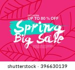 spring sale banners poster tag... | Shutterstock .eps vector #396630139