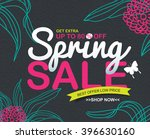 spring sale banners poster tag... | Shutterstock .eps vector #396630160