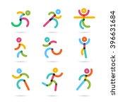 running marathon colorful ... | Shutterstock .eps vector #396631684