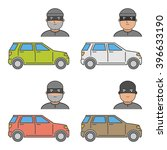 vector set icons car theft.... | Shutterstock .eps vector #396633190