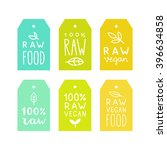 raw vegan food tags. can be... | Shutterstock .eps vector #396634858