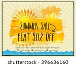 summer sale flyer  sale banner  ... | Shutterstock .eps vector #396636160