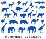 wild animals set | Shutterstock .eps vector #396636808