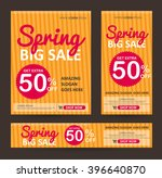 spring sale banners poster tag... | Shutterstock .eps vector #396640870
