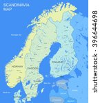 detailed scandinavia map vector ...   Shutterstock .eps vector #396644698
