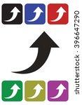 arrow up icon | Shutterstock .eps vector #396647290