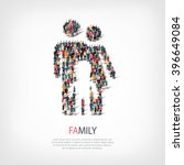 abstract symbol family people   Shutterstock .eps vector #396649084