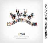 dawn symbol people crowd | Shutterstock .eps vector #396649090