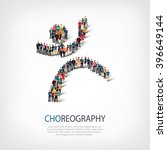 choreography symbol people crowd | Shutterstock .eps vector #396649144