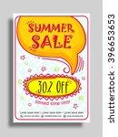 summer sale flyer  sale banner  ... | Shutterstock .eps vector #396653653