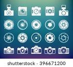 camera shutter  lenses and... | Shutterstock .eps vector #396671200