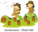 illustration of kids on white | Shutterstock . vector #39667180
