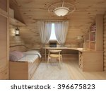 log interior room for a... | Shutterstock . vector #396675823