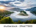 beautiful river landscape... | Shutterstock . vector #396677800
