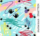 modern kids b w seamless... | Shutterstock .eps vector #396677824