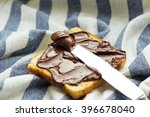 slice of bread with chocolate... | Shutterstock . vector #396678040