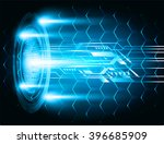 blue abstract vector hi speed... | Shutterstock .eps vector #396685909