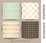 set of creative patterns with... | Shutterstock .eps vector #396693034