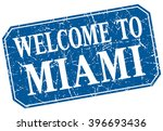 welcome to miami blue square... | Shutterstock .eps vector #396693436