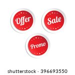 offer  sale   promo stickers | Shutterstock .eps vector #396693550