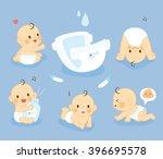 set Diaper Baby | Shutterstock vector #396695578