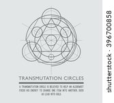 transmutation circles. line art.... | Shutterstock .eps vector #396700858