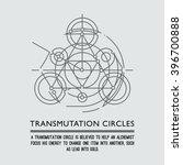 transmutation circles. line art.... | Shutterstock .eps vector #396700888