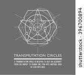 transmutation circles. line art.... | Shutterstock .eps vector #396700894