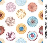 seamless vector pattern with... | Shutterstock .eps vector #396700933