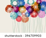 Stock vector colorful flower background eps vector 396709903