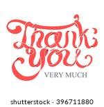 vector red ribbon hand...   Shutterstock .eps vector #396711880