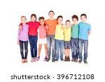 little kids isolated in white... | Shutterstock . vector #396712108