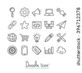 seo icon. doodles icon. hand... | Shutterstock .eps vector #396712378