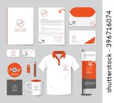 vector brochure  flyer ... | Shutterstock .eps vector #396716074