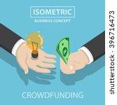 isometric businessman hands buy ... | Shutterstock .eps vector #396716473