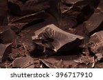dark chocolate chunks  ... | Shutterstock . vector #396717910