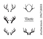 vector illustration of antlers... | Shutterstock .eps vector #396718003