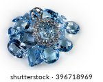 pendant with diamonds and... | Shutterstock . vector #396718969