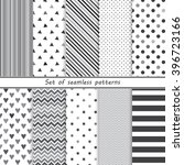 a set of simple monochrome... | Shutterstock .eps vector #396723166