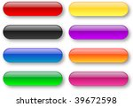 colored aqua style bar buttons...   Shutterstock . vector #39672598