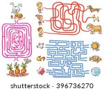 labyrinth games set for... | Shutterstock .eps vector #396736270