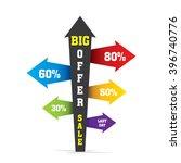 creative directional arrow big...   Shutterstock .eps vector #396740776