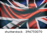 beautiful flag of the uk waving ... | Shutterstock . vector #396753070