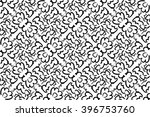 abstract black and white ethnic ... | Shutterstock .eps vector #396753760