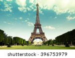the eiffel tower in paris ... | Shutterstock . vector #396753979