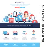 fast delivery services one page ... | Shutterstock .eps vector #396756898