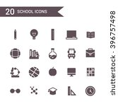 school icon set vector.... | Shutterstock .eps vector #396757498