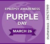 purple day epilepsy awareness | Shutterstock .eps vector #396757999