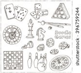 hand drawn doodle games set.... | Shutterstock .eps vector #396759244