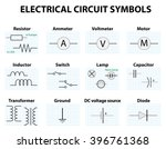 electric circuit symbol element ... | Shutterstock .eps vector #396761368